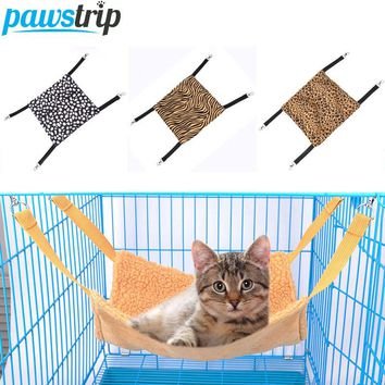 3 Size Soft Fleece Cat Hammock Cage Bed Mat For Small Animal