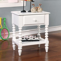 Lindsey White Night Stand - CM-AC323