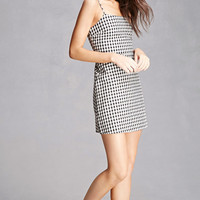 Gingham Lace-Up Cami Dress