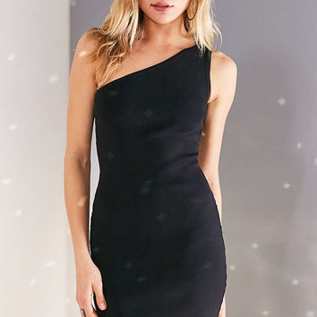 Silence + Noise One Shoulder Bodycon Mini Dress - Urban Outfitters