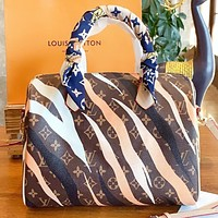 Louis vuitton LV New fashion monogram print shoulder bag crossbody bag women handbag
