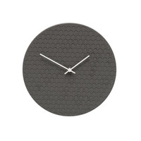 Hexagon Clock Black