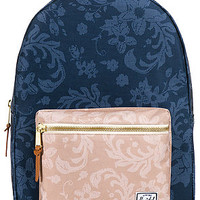 The Settlement Backpack in Navy and Khaki Floral