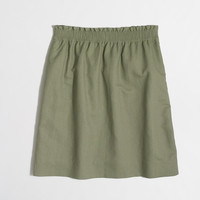 Factory linen-cotton sidewalk skirt