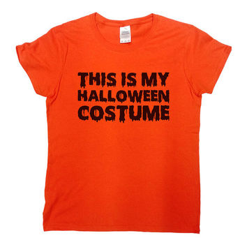 Funny Halloween Shirt This Is My Halloween Costume Shirt Halloween TShirt Halloween Costume Halloween Party Shirt Costume Mens Tee - SA475