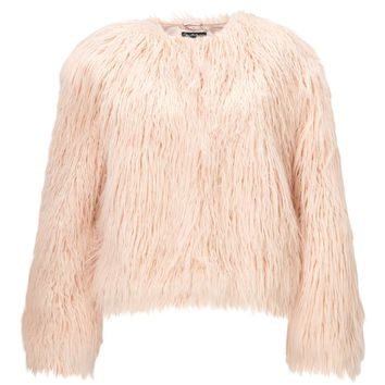 Blush Faux Fur Mongolian Coat | Missselfridge