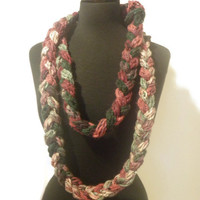 Extra long braided infinity scarf, handmade infinity scarf