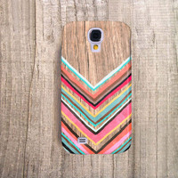 SAMSUNG Galaxy S4 Case Chevron Galaxy S3 Case Samsung Galaxy S4 Wood Print Case Chevron Case Chevron Faux Wood Valentines Gift Note 2 Case