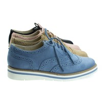 CasinoS Rubber Platform Oxford, Creepers Brogues Shoes, Women's Wingtip Lug Sole