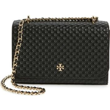 Tory Burch 'Shrunken Marion' Embossed Leather Shoulder Bag | Nordstrom