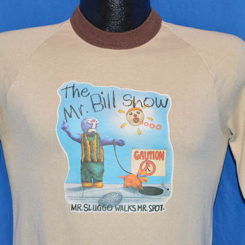 70s Mr. Bill Show SNL Short Sleeve Sweatshirt Small