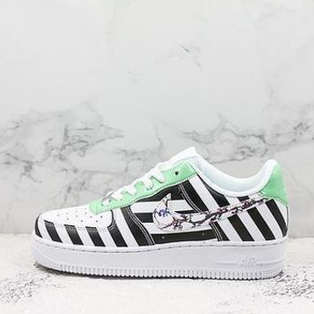 Nike Air Force 1 X Off-white White Black Green Sneakers