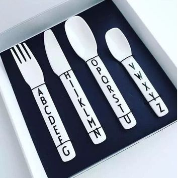 Melamine Alphabet Tableware
