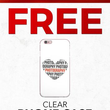 Christmas 2018 Free PFIPHN0042 Clear iPhone Case Heart Photography (Case available for 5c/5s/6/6s7/ 7+) Gift With Purchase