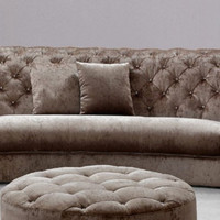 Contemporary Tufted Sectional Sofa