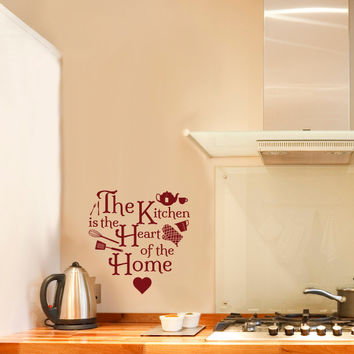 Kitchen Heart Home Icons Quote