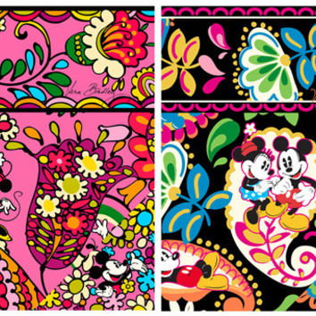 Inspired Vera Bradley Mickey Mouse Vinyl Sheet 8 1/2 by 11 inches