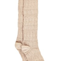 Rose Chunky Knit Knee High Socks