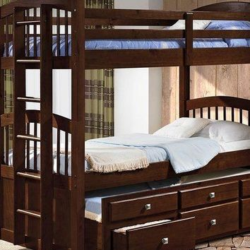 Carter Cappuccino Captains Bunk Bed with Storage