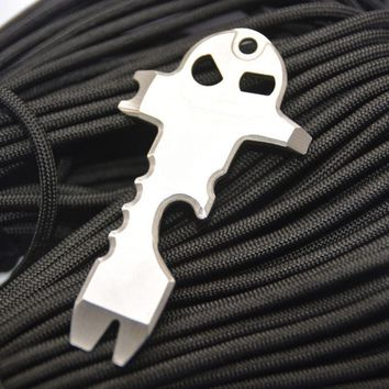 EDC Stainless Steel Tactical Multi-functional Pocket Tool Key Ring Keychain Multi Tools
