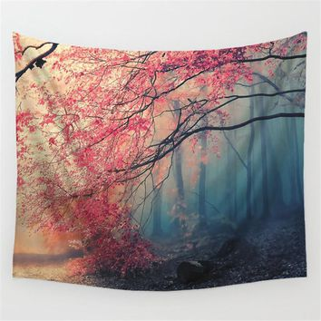 Forest Snow Beautiful Scenery Style Wall hanging Tapestry