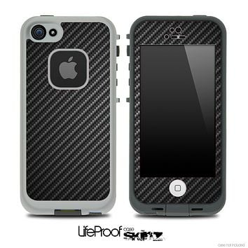 Dark Carbon Fiber Skin for the iPhone 5 or 4/4s LifeProof Case