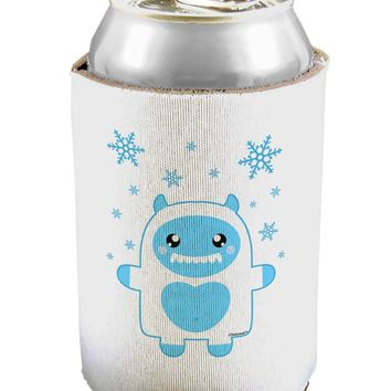 Cute Abominable Snowman Boy Yeti - Christmas Can / Bottle Insulator Coolers