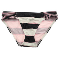 Tommy Bahama Womens Rugby Stripe Hipster Side Shirred Swim Bottom Separates