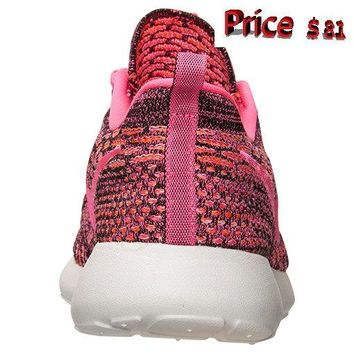 Where To Buy Women Girl Nike Flyknit Roshe Run Pink Pow Total Orange 704927 004 sneaker
