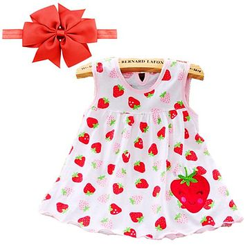 2018 Baby Girl Dress Summer Girls Dresses Style Infantile Dress Hot Sale Baby Girl Clothes Summer Flower Style Dress Low Price