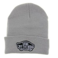 Gray Vans Off The Wall Winter Beanies Truck Cap Knit Hat Unisex Plain Warm Soft Beanie