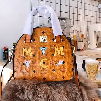 MCM Vintage Classic Print Tote Bag Shoulder Bag Crossbody Bag