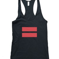 RexLambo Women's Infrared Gay Marriage Equality Symbol Tank Top
