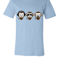 three modern monkeys - Unisex T-shirt