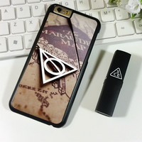 DEATHLY HALLOWS SYMBOL AND MARAUDERS MAP HARRY POTTER iPhone 6 Plus | 6S Plus Case Planetscase.com