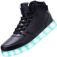 For Men 8 Colors Led Lights Up High Top Glowing Luminous Shoes