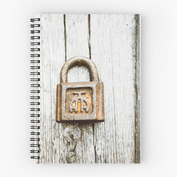 'Rusty Lock' Spiral Notebook by Errne