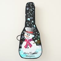 "Snowman ""Merry Christmas"" personalised Guitar Case"