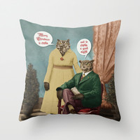 Merry Christmas to Owls, and to Owls a Good Night!! Throw Pillow by Peter Gross