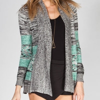 O'neill Portland Womens Cardigan Grey/White  In Sizes