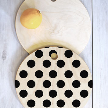 Allyson Johnson Classiest Cream Cutting Board Round