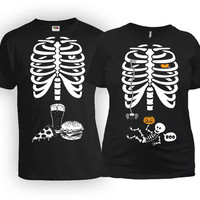 Matching Halloween Costumes Pregnancy Announcement Shirt Mommy To Be Gift Couples T Shirt Skeleton TShirt Father To Be Shirt MAT-20-170