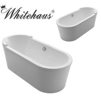 Whitehaus WHVT180BATH Oval Freestanding Acrylic Soaking Bathtub