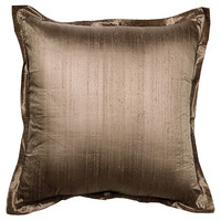 Dupion 25x25 Silk Pillow,  Titium, Decorative Pillows