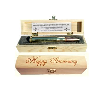 .50 caliber BMG Bullet Pen in Wood Gift Box