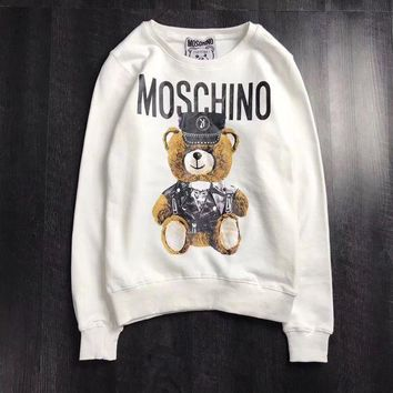 PEAPON Moschino Woman Men Fashion Bear Top Sweater Pullover