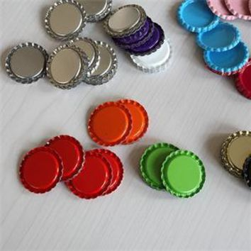 100 Pcs Mix Colored Flattened Bottle Caps Flat Bottle caps For Diy Hair bow Pendant Craft Jewerly Accessories