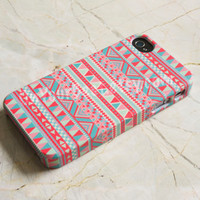Pink Aztec Geometric Tribal Coral iPhone Case Cover, iPhone 5s Case , iPhone 5 , iPhone 5c Case ,iPhone 4 ,iPhone 4s ,Samsung Galaxy S4 Case