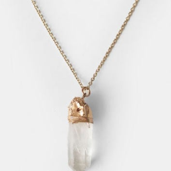 New Moment Crystal Necklace - $18.00 : ThreadSence, Women's Indie & Bohemian Clothing, Dresses, & Accessories