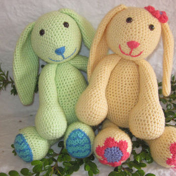 Daisy and Minty the Spring Bunnies Crochet Pattern